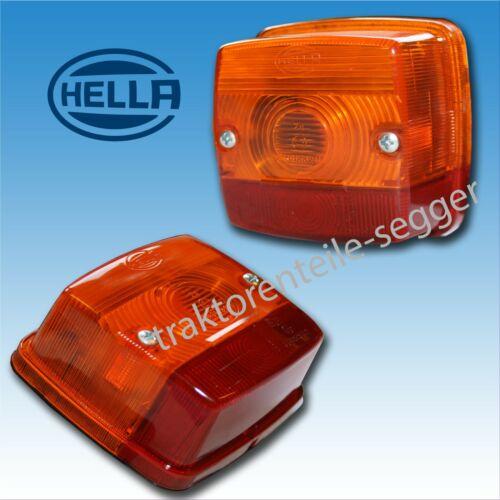 Hella Blink & Rückleuchte eckig für  724 824 433 533 633 Traktor Schlepper  Foto 1