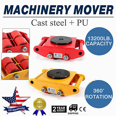 Machinery Mover Machine Dolly Skate Roller 360 Rotation 6t 13200lb Heavy Duty