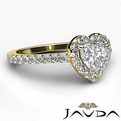 Halo U Cut Prong Set Heart Shape Diamond Engagement Ring GIA Certified F VS2 1Ct 9