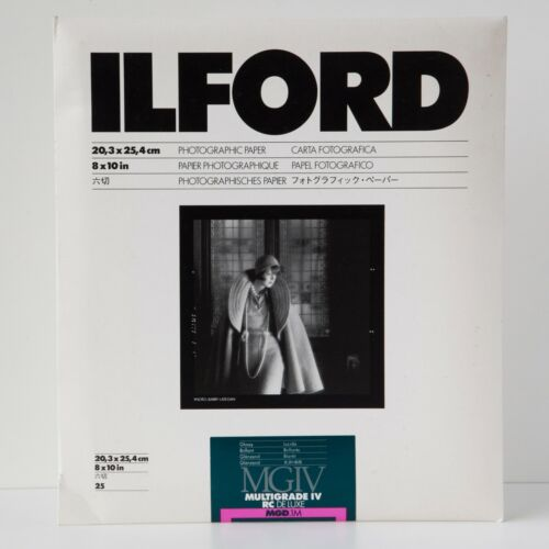 NOS ILFORD MULTIGRADE IV RC DELUXE - B&W 25 sheets Glossy Paper