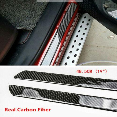 Car Parts - Car Stickers Parts Accessories Carbon Fiber Door Sill Protector Scuff Plate Trim