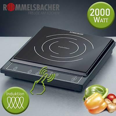 Rommelsbacher Induktion Kochplatte Kochfeld Herdplatte Einzel Kochtafel 2000 W (Tragbare Herd Kochplatte)