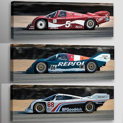 Porsche 962 (3) print Collection Racecar Automotive Car Photo Wall Art Canvases ()