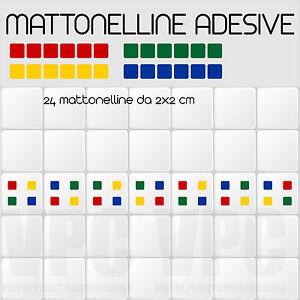 24 mattonelle adesive per piastrelle muri vetri mensole 4 colori a scelta  eBay