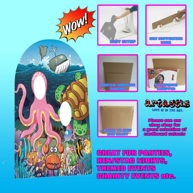 UNDER THE SEA STAND IN LIFESIZE CARDBOARD STANDUP STANDEE CUTOUT SC764
