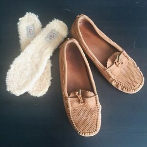 Ugg Taupe Suede Slippers Size 7