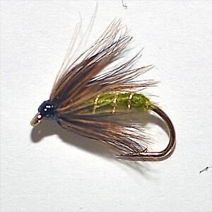 Greenwells spider trout grayling wet fly fishing flies for Wet fly fishing
