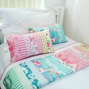 SALE 10% OFF - Floral Patchwork Baby Blanket / Lap Quilt / Cot Qu Chipping Norton Liverpool Area Preview