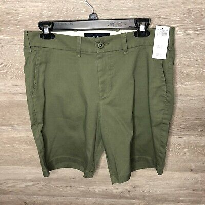 Abercrombie & Fitch Mens 31 Stretch Olive Green Shorts NEW