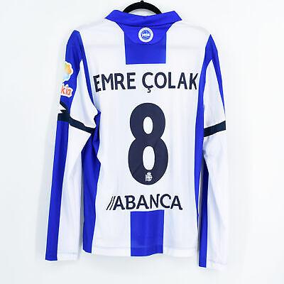 2016-17 Deportivo Match Issue Home Shirt L/S #8 EMRE ÇOLAK M Jersey