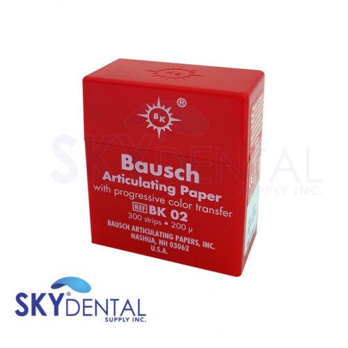 "Bausch .008"" (200 microns) RED Articulating Paper Strips, 300 Strips BK02"