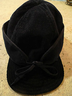 $ 360.00 PAUL SMITH NAVY BLUE CORDUROY MEN'S HAT, ITALY SIZE M