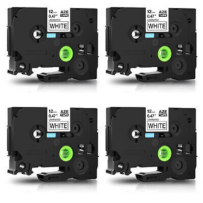 4pk Tz Tze231 Tz231 Black On White Label Tape For Brother P-touch Pt-d200g 12