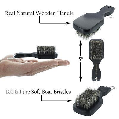 100% PURE Soft Boar Bristles Mini Club Hair Brush 5