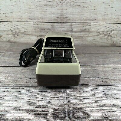 Panasonic Electric Stapler As-300 Tested Works Vintage