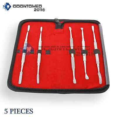 Bone File Kit Dental Surgical Orthopedic Veterinary Surgery Instruments 5 Pcs