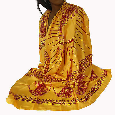 Scarf Cloth Lunghi Sarong Mantra Benares Deco Cloth Vishnu India Goa Hippie 18