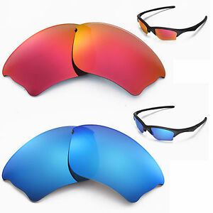 New-Walleva-Polarized-Fire-Red-Ice-Blue-Lenses-For-Oakley-Half-Jacket-XLJ