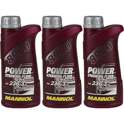 3x500 ml Original MANNOL 8980 Power Steering Fluid Hydrauliköl Servoöl Oil