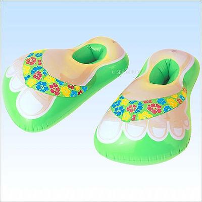 awaii Badeschuhe Schuhe aufblasbar Badelatschen Fasching JGA (Aufblasbare Schuhe)