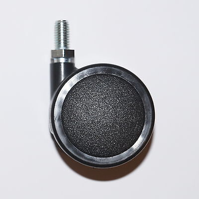 4x Möbelrolle 50mm M8 Gewinde Hartbodenrollen Lenkrolle Transportrollen Rollen