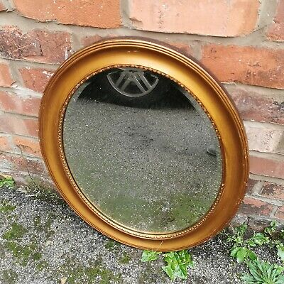 Vintage bevelled oval mirror, needs repainting hence low price  fy8