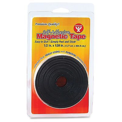 Hygloss Self-adhesive Magnetic Tape - 0.50 Width X 10 Ft Length - Self-adhesive