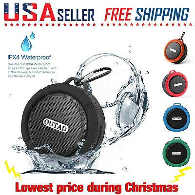 LOT Bluetooth Wireless Speaker Waterproof Mic Mini Resistant Shower Potable New Mini Speaker Mic