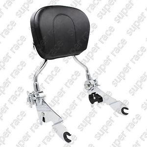Newest Adjustable Detachable Backrest Sissy Bar Chrome For Harley Touring  09-15