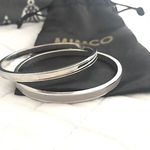 Mimco enamel and silver bangles Warners Bay Lake Macquarie Area Preview