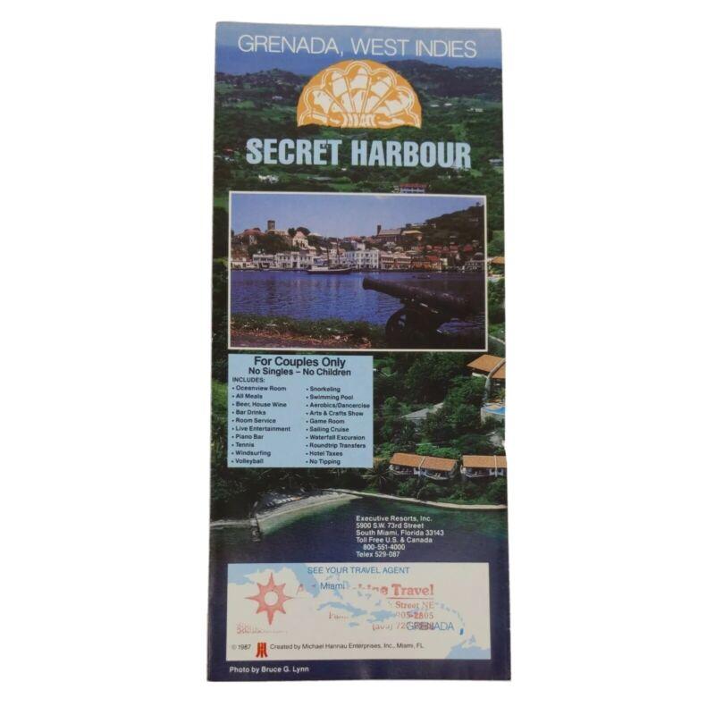 VINTAGE 1987 GRENADA WEST INDIES SECRET HARBOUR FOR COUPLES Travel Brochure