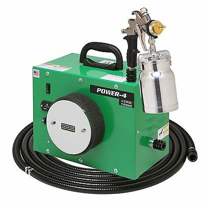 Apollo Power-4 110v Turbospray Four Stage Turbine A7500 Hvlp Spray Gun New