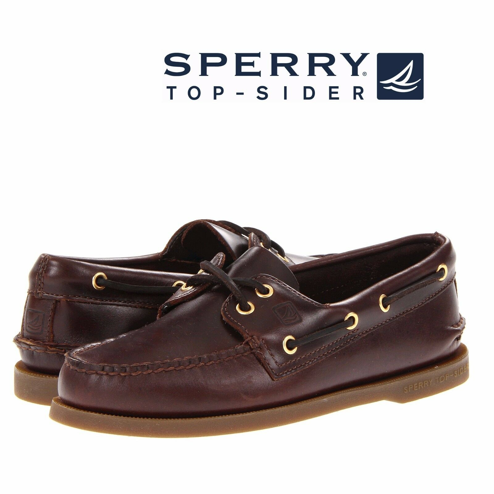2-Eye Boat Shoes Amaretto Leather