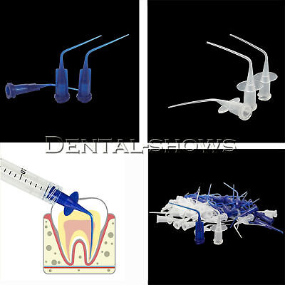 Dental Disposable Irrigation Syringe Endo Oral Needle Tips Plastic Blueclear
