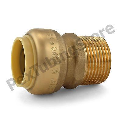 25 34 Sharkbite Style Push-fit X 34 Mnpt Lf Brass Male Threaded Adapters