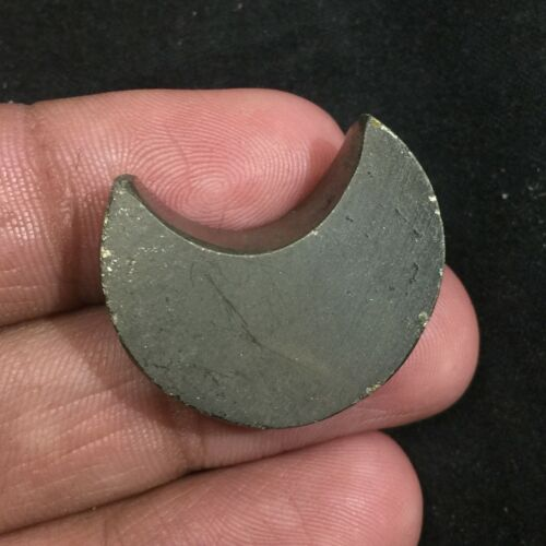 Natural Pyrite Moon Gemstone Cabchon Best Quality Shape Moon 59.4 Cts UPE-6