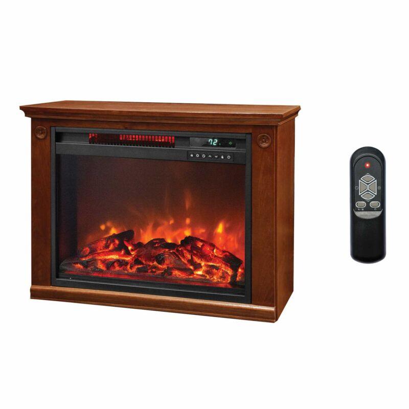 LifeSmart 1500 Watt Large Infrared Quartz Electric Portable Fireplace Heater