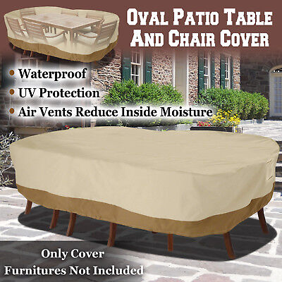Large Patio Garden Rectangular Oval Table Chair Cover Outdoor Furniture Winter  ()
