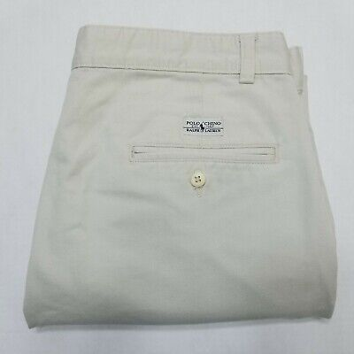 Polo Ralph Lauren Andrew Pant beige khaki Chino pants double pleated 33x26 Double Pleated Trouser