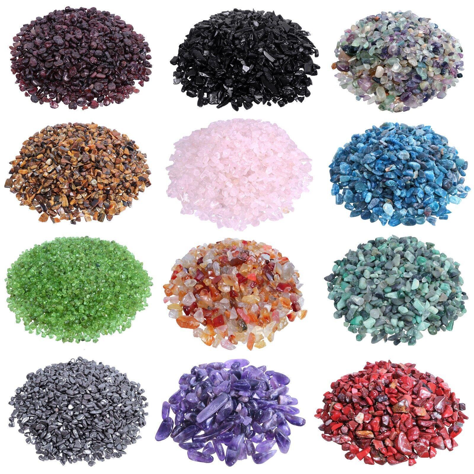 Mini micro Trommelsteine Granulat Chips Ladesteine Entladesteine viele Sorten