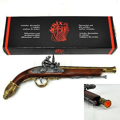 Genuine Denix 17th C Germany Flintlock Pistol, Non-Firing(Ref# 1033L)