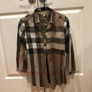 Authentic Burberry women's chek shirt