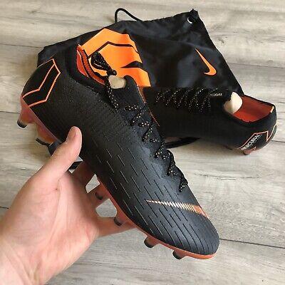 NIKE VAPOR 12 ELITE AG-PRO BLACK FOOTBALL BOOTS SIZE UK8/US9 AH7379-081