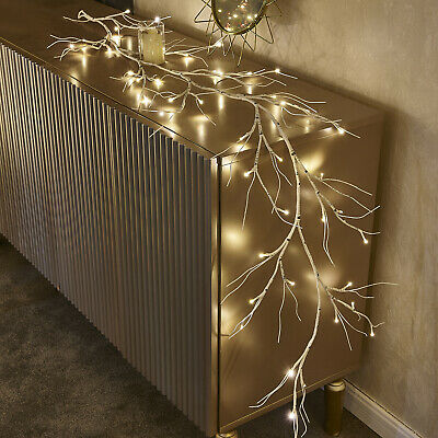 Hairui Lighted White Birch Tree Garland for Home Party Christmas Holiday Decor