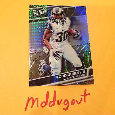 Todd Gurley Ii Mvp  48 Rams 2016 Panini National Vip Gold Prizm Ref Only 99 Made
