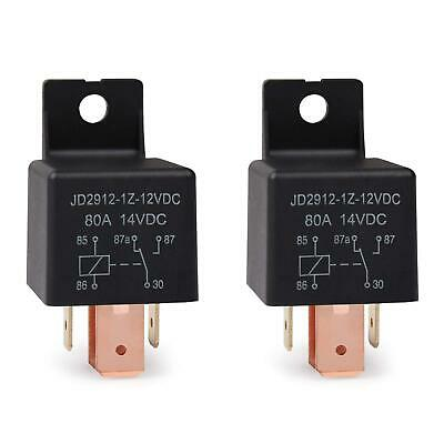5-pin Jd2912-1z-12vdc 80a 14vdc Spdt Truck Boat Car Relay 12v Switch 2 Pack