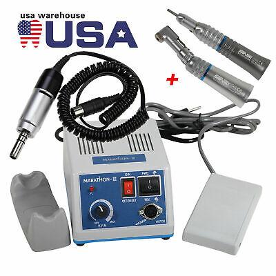 New Dental Lab 35k Rpm Marathon Micro Motor Straight Handpiece Contra Angle