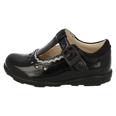 Clarks Mädchen Erste Schuhe T- Schnalle Schnalle Schwarz Silber 'Ella Alice '