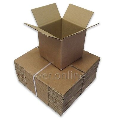 10 x Small Cardboard Mailing Shipping Boxes 6x6x6
