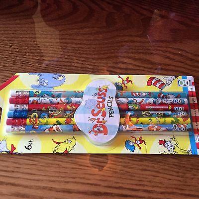 Dr. Seuss pencils pack of 6. New! - Dr Seuss Pencils